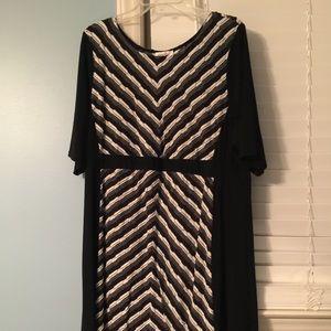 Black gray and white dress